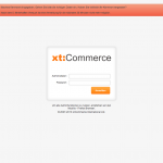 xt:Commerce 4.1 Backend - Login