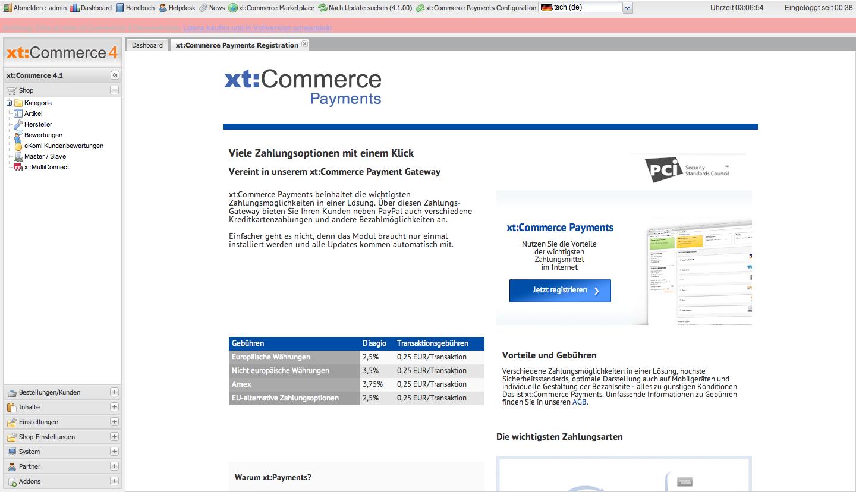 xt:Commerce 4.1 Backend - xt:Payments