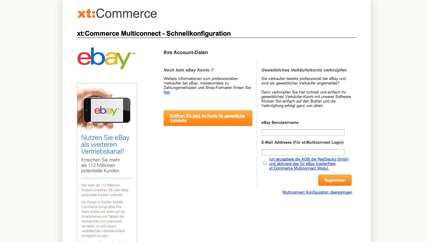 xt:Commerce 4.1 Update - xt:Commerce Multiconnect - Schnellkonfiguration