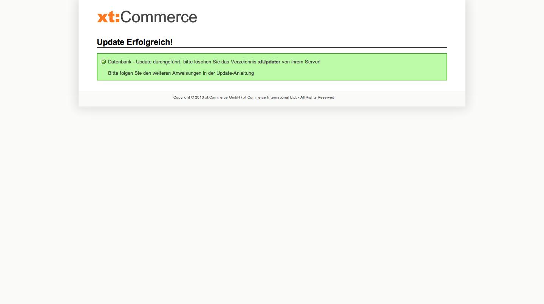 xt:Commerce 4.1 Update - Update Erfolgreich!